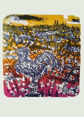 o.T., Lithographie, 2001, 117/150 handsigniert, Bildgröße: 40 x 32 cm, Blattgröße: 59 x 42 cm, Preis: 250 Euro