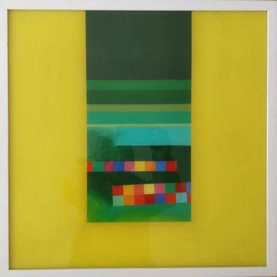 o. T., 2007, Öl-Hinterglasmalerei, 53 x 52,5 cm, Preis: 900 Euro