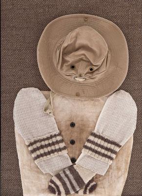 Behütet, 80 x 60 cm, Materialbild 2011, Preis: 600 Euro