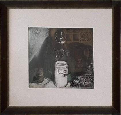 Stillleben, Radierung 3/30, handsigniert, Bildgröße: 28 x 30 cm, Probedruck, Preis: 490 Euro incl. Rahmen