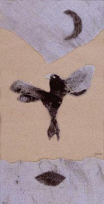 Das zweite Gesicht II, 23 x 43 cm, Materialbild 2006, Preis 350 Euro