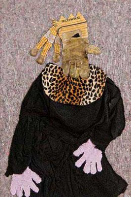 Drosselbart, 93 x 62 cm, Materialbild 2009, Preis: 900 Euro