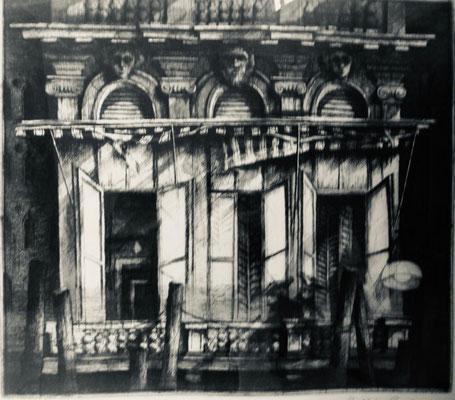 """Venedig"", Radierung 1992, 14/15, Maße: 37 x 33 cm, Papier 70 x 54 cm"