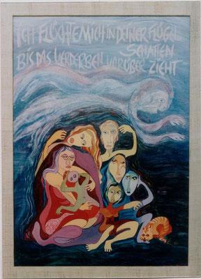 Asyl,  Acryl auf Leinwand, 65 x 55 cm Preis auf Anfrage