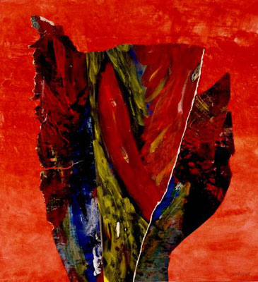 Blüte. 70x70 cm, Papiercollage 2008, Preis: 400 Euro