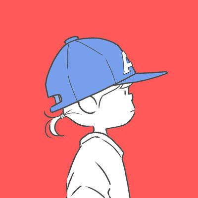 野球帽の女の子