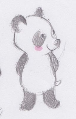 習作:パンダのあかちゃん