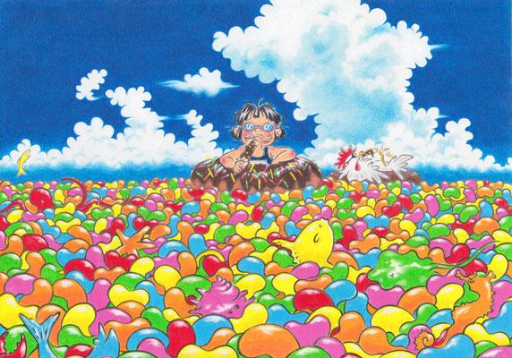 習作:Jelly beans sea