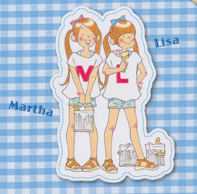 『マーサとリーサ②とびきりの夏の思い出、つくります!』裏表紙イラスト