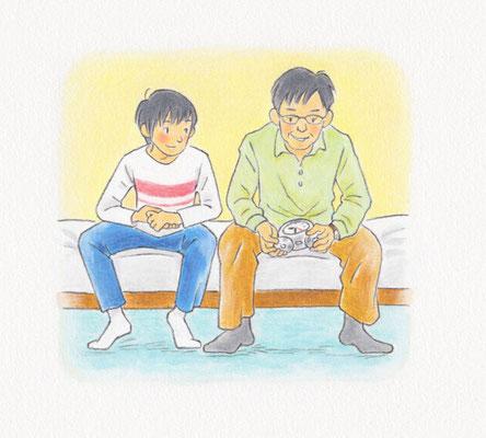『父の目覚まし時計』中学校道徳一年 あすを生きる(日本文教出版)