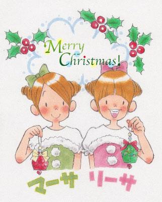 『マーサとリーサ』クリスマスワークショップイラスト