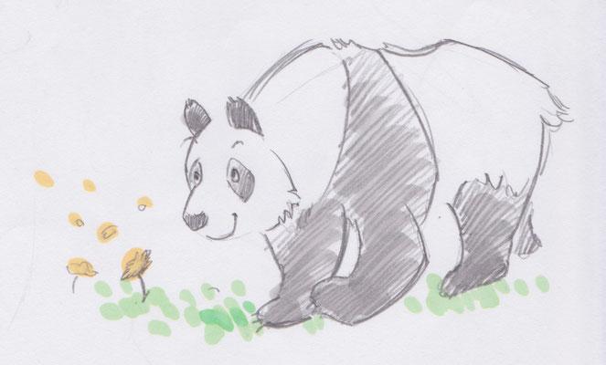習作:パンダのおかあさん
