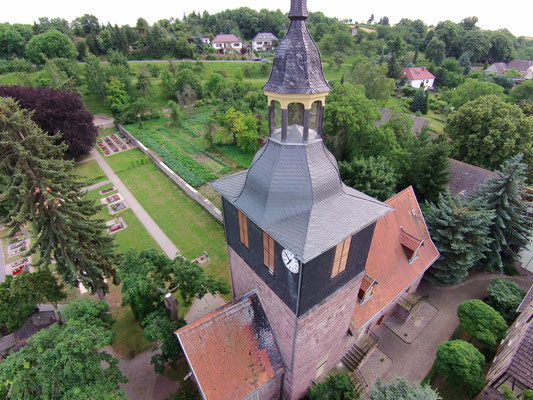 Drohnenaufnahme Kirchendach Udersleben