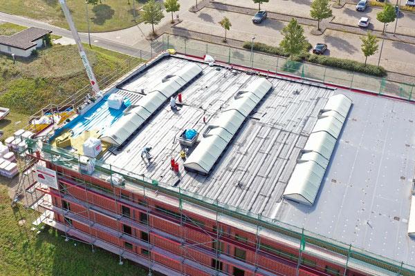 Flachdachsanierung der Sporthalle Kyffhäuser-Kaserne