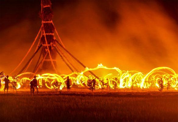 井村 稔 向田の火祭り