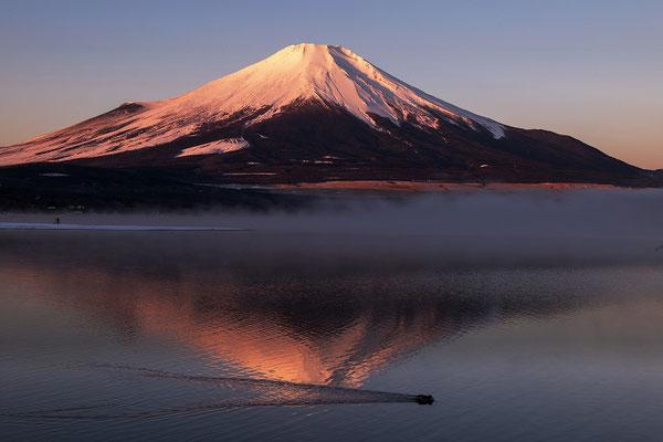谷内久一 朝もやの紅富士
