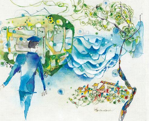 透き通る街 鎌倉 (2011)  / 個人蔵 sold