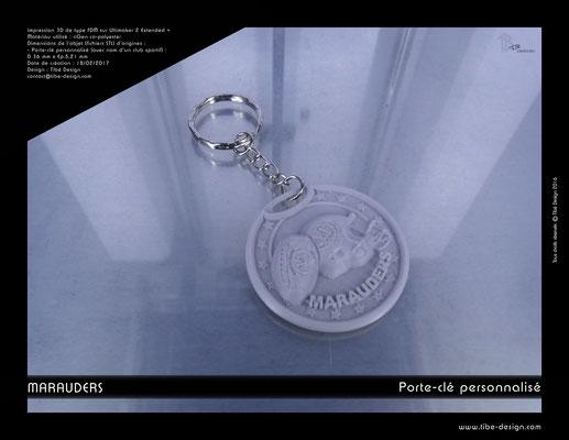 Porte-clé personnalisé Marauders 1