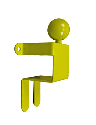 Patère ou portant design Adhésion Human Mobilius  jaune 1