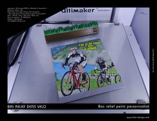 Objet cadeau print 3D style bas relief peint à la main 04