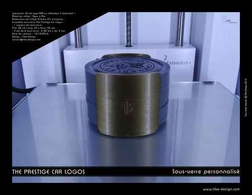 Sous-verre et porte sous-verre The Prestige Car Logos impression 3D 03