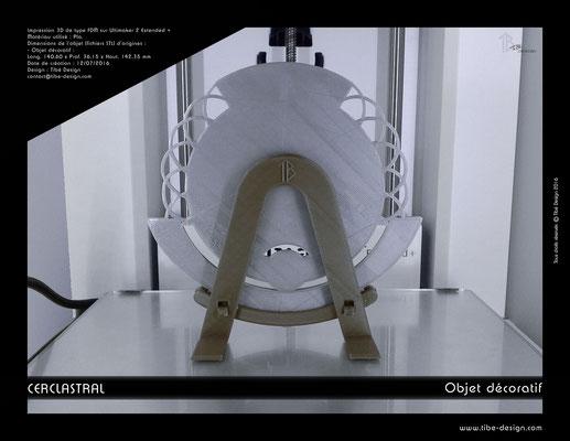 Objet déco design Print 3D Cerclastral Cancer 2