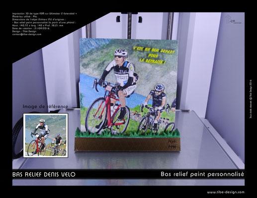 Objet cadeau print 3D style bas relief peint à la main 01