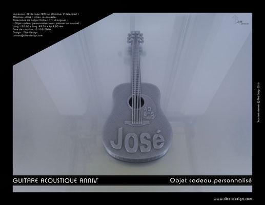 Objet cadeau personnalisé guitare acoustique print 3D 1