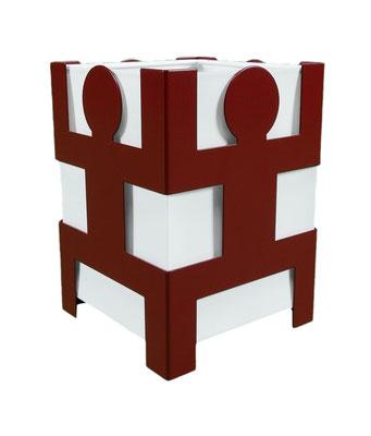 Lampe cohésion design Human Mobilius rouge basque