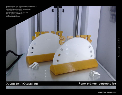 Porte-prénom Ducati Desmosedici RR design 1