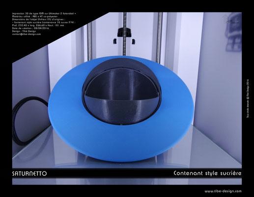 Contenant sucrière design Saturnetto print 3D 3