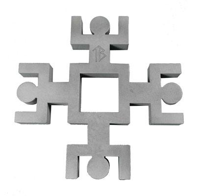 Dessous de plat Unité Human Mobilius design gris béton V1
