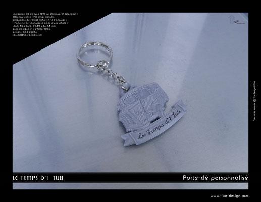 Porte-clé personnalisé Le Temps d'1 Tub 1
