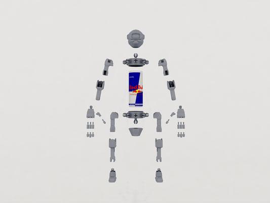 Robot articulé décompo studio WOC 1