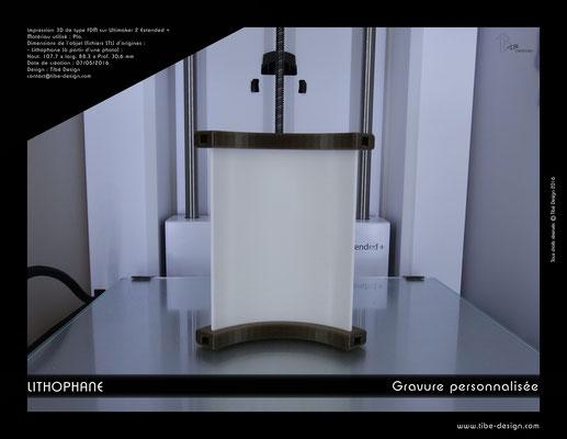 Objet cadeau design Lithophane print 3D 2