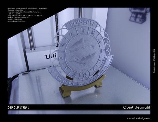 Objet déco design Print 3D Cerclastral Poisson 1