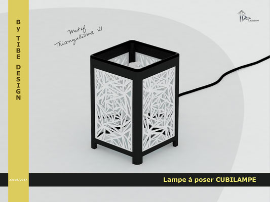 Lampe à poser design Cubilampe impression 3D motif 01