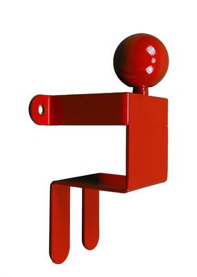 Patère ou portant design Adhésion Human Mobilius  rouge 1