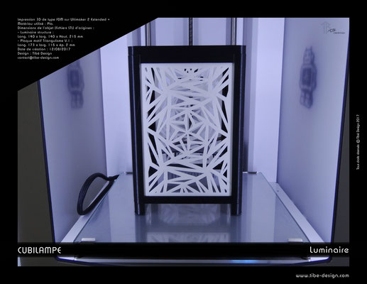 Lampe à poser design Cubilampe impression 3D 01