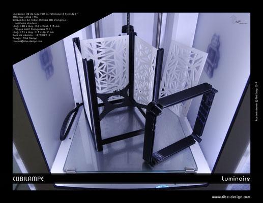 Lampe à poser design Cubilampe impression 3D 02