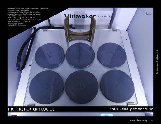 Sous-verre et porte sous-verre The Prestige Car Logos impression 3D 07
