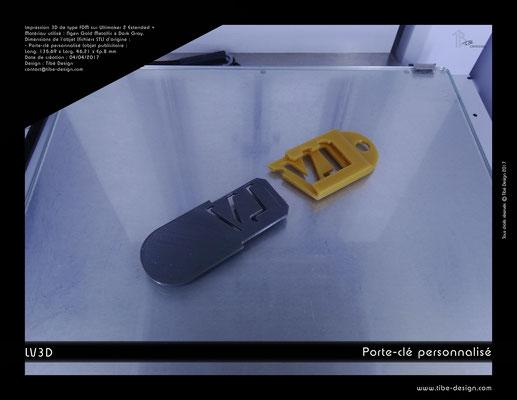 Porte-clé personnalisé LV3D 2