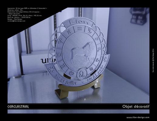 Objet déco design Print 3D Cerclastral Lion 2