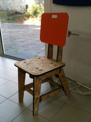 Assise ou chaise pour le créalab prototype 1