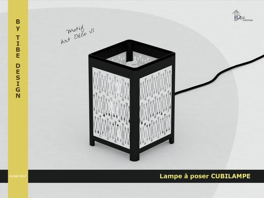 Lampe à poser design Cubilampe impression 3D motif 03