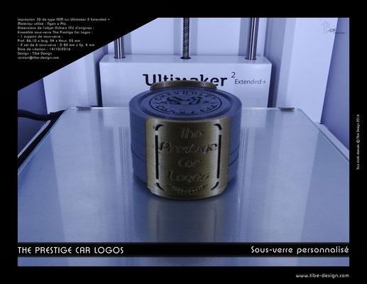 Sous-verre et porte sous-verre The Prestige Car Logos impression 3D 01