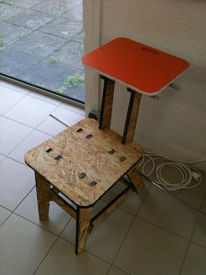 Assise ou chaise pour le créalab prototype 2