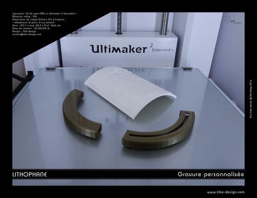 Objet cadeau design Lithophane print 3D 3