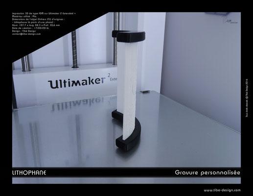 Objet cadeau design Lithophane print 3D 6
