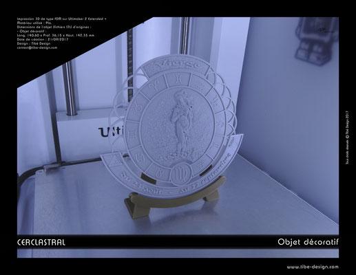 Objet déco design Print 3D Cerclastral Vierge 1